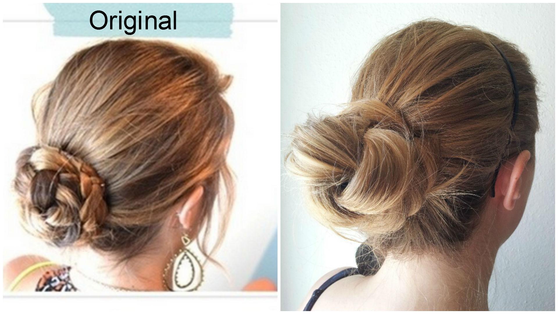 Прическа из кос с пучком фото
